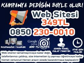 Web Sitesi Sadece 349 TL!